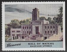 Usa Cinderella stamp: See Missouri: Hall of Waters, Excelsior Springs - dw763w