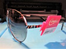 candies Aviator Sunglasses metal pilot Glasses silver tiger stripe frame