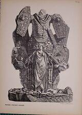 Antiguo Piranesi de impresión de 100 años de edad de vistas de Roma octava Auguste