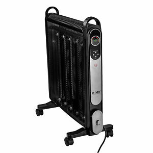 AMOS 2000W Oil Free Mica Radiator 2 Setting Thermostat Energy Efficient Heater