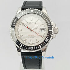 41mm Parnis Date Leather Sapphire Glass Miyota 8215 Automatic Men's Watch 2631
