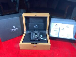 Tutima Grand Classic Automatic Chronograph 781-32 Black PVD Brand New