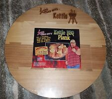 """NEW!! LARRY THE CABLE GUY 13"""" ROUND KETTLE BBQ GRILLING PLANK Fathers Day Gift"""