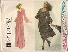 Vogue Designer Sewing Pattern 1746  Albert Nipon, Top and Skirt, Size 10, Uncut