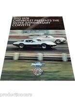 1978 Chevrolet Chevy Corvette Sales Brochure - 25th Silver anniversary L82