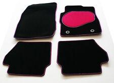 Car Mats for Toyota Urban Cruiser Petrol 09> - Pink & Black Trim & Heel Pad