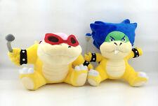 "2X Super Mario Bros Koopalings Roy & Ludwig von Koopa Plush Soft Toy Bowser 7"""
