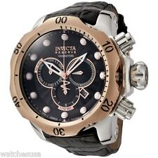 Invicta Men's 0360 Reserve Venom Chronograph Leather Band Quartz Watch