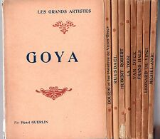 LOT 9 LIVRES ILLUSTRES LES GRANDS ARTISTES BIOGRAPHIES 1925 LAURENS BEAUX-ARTS