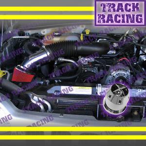 2002 2003 JEEP LIBERTY LIMITEDRENEGADESPORT 3.7L V6 AIR INTAKE+CHF Black Red