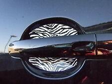 Zebra Car Accessory Black White Door Handle Scratch Guard Trim 4 Door Fit All