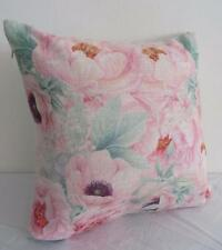 Top Quality Pink Roses Medley Florals Linen Look Cushion Cover 45cmn