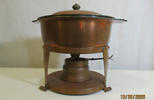 SCAVULLO LEGION UTENSILS Vintage Copper Stainless Warming Chafing Dish Fondue
