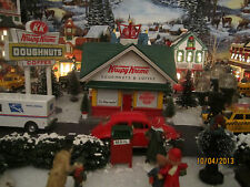 "TRAIN HOUSE GARDEN VILLAGE ""CLASSIC KRISPY KREME DONUT SHOP"" +DEPT 56/LEMAX info"