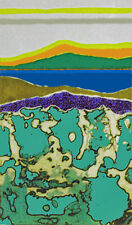 LAKE & BOG AT HIGH NOON - Collage and Acrylic Unique Art By Arthur Secunda