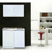 respekta MK100WOS 100 x 60 x 200 cm Mini Cucina Completa con Frigorifero - Bianca