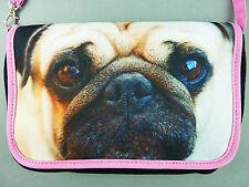 NEU Mops Damen Tasche Handtasche Schultertasche Clutch Hund Foto Print Primark