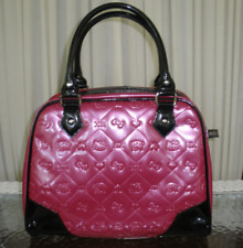 3475ee0912 Bag Hello Kitty Sanrio Fuchsia Hot Pink Black Embossed Faux Leather Satchel  Purs