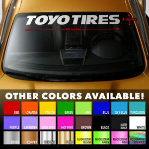"""TOYO TIRES Premium Windshield Banner Vinyl Decal Sticker 40x4"""""""