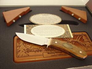 "Browning Japan 9"" Heritage Series Bull Elk LTD Knife + Print & Box MIB"