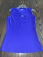 Under Armour UA Blue Purple Compression Shirt Top Tee Tank M Medium Md Run Gym
