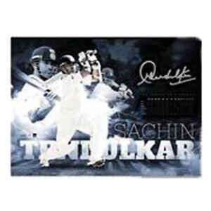Sachin Tendulkar original and facsimile signed Unframed Sportsprint