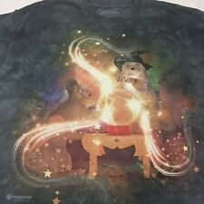 Gray Tye Dye XL T-shirt Magical Squirrel Mysterious Bunny Witch Magic