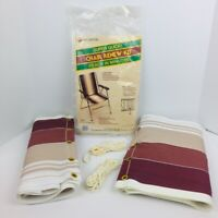 "Wellington Lawn Chair Webbing Renew Kit 15"" X 67"" Brown Striped S-35403"