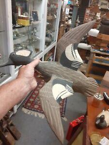 Chincoteague va duck decoy flying Hooded Merganser Budd