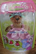 Nip Li'l Luvables Fluffy Factory Bear Wear Pink Dress Headpiece Doll Clothing