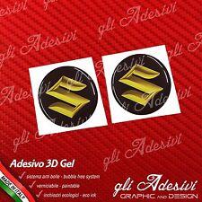 2 Adesivi Resinati SUZUKI 3D Gold 30 mm auto moto