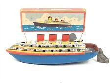 Vintage LORENZ BOLZ Tin Litho Motorless POP POP Ship BOAT Original Box Germany