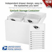 10 Layers Eyelash Extension Storage Case False Eyelash Makeup Organizer US Stock