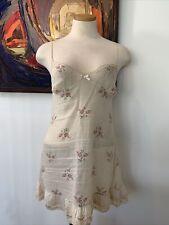 Joelle La Perla Italy Floral Nightgown Size 1 Beautiful! Cotton