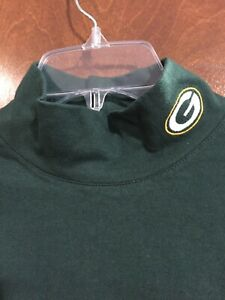 Game Day Green Bay Packers Women's Mock Turtle Neck Short Sleeve Size Small