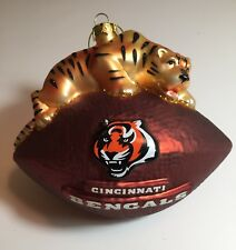 New Cincinnati Bengals Blown Glass Mascot Ornament, Christmas, Gift for Her Him