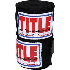 """Title Classic 108"""" Advanced Handwraps-Black"""