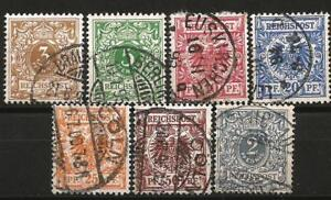 Germany Reich (Empire) 1889 - 1900 Used - Definitives - Krone/Adler Crown/Eagle