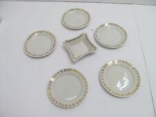 MES-47536Altes Porzellan Puppenstuben Geschirr 6 Teile Durchmesser: