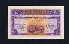 25 Piastres >>> 1942 <<<  Pick#36 Liban Lebanon Beirut  .......(F1)