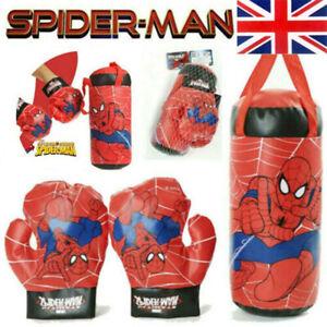 Kid Spiderman Gloves Punching Training Set Avengers Toys Christmas Gift Sport UK