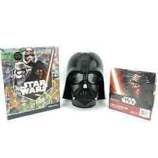 Darth Vader Star Wars Talking Mask Voice Changing Helmet Look and Find Book Lot