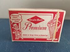 (VTG) 1960s grain belt beer playing cards sealed deck back bar figure guys mn