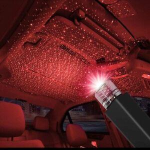 USB Car Interior LED Light Roof Bedroom Starry Sky Lamp Star Projector Lights