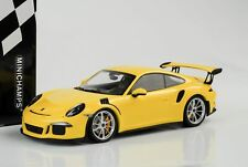 2015 Porsche 911 991 gt3 rs jaune sans inscription 1:18 Minichamps QUALITE