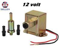 12v Universal Electric Fuel Pump Metal Diesel or Petrol 4-6 PSi Facet Style