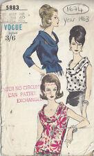 1963 Vintage VOGUE Sewing Pattern B38 BLOUSE (1674)
