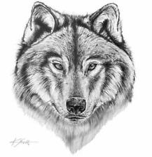 "K. Scott ""The Wolf"" Canvas Framed 24""x 36"" Print (FREE SHIPPING)"
