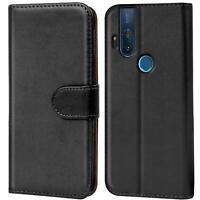 Book Case für Motorola One Hyper Hülle Tasche Flip Cover Handy Schutz Hülle