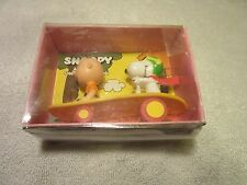 Peanuts Snoopy and Charlie Brown On Skatboard NMIB Toy 1970's Aviva